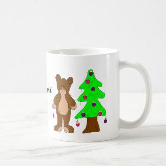 Bear with Christmas Tree Coffee Mug