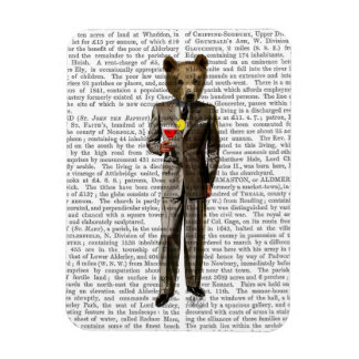 Bear with Cocktail Rectangular Photo Magnet