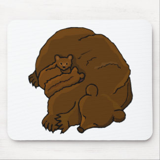 Bear With Cubs Mouse Pad