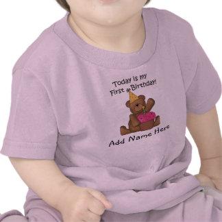 Bear with Cupcake 1st Birthday Tshirt