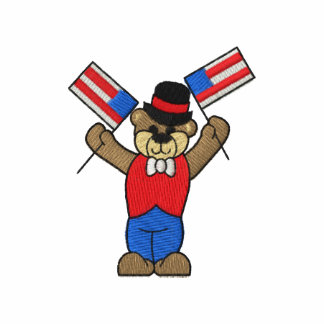 Bear with flags