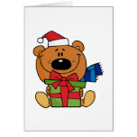 Bear With Gift Holiday Tshirts and Gifts Card