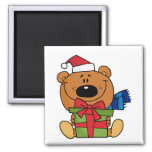 Bear With Gift Holiday Tshirts and Gifts Refrigerator Magnets