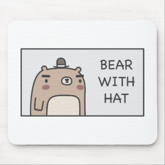 Bear With Hat Mouse Pad