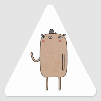 Bear With Hat Triangle Sticker