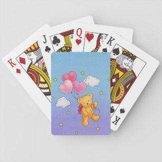Bear with Heart Balloon's Playing Card's Playing Cards