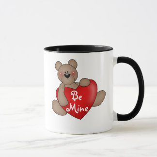 Bear with Heart Be Mine Mug
