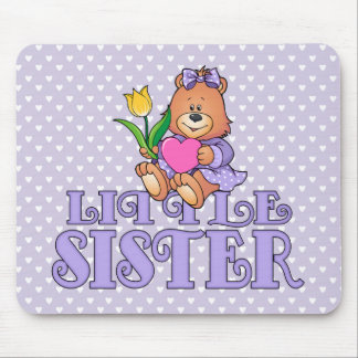 Bear with Heart Little Sister Mouse Pads