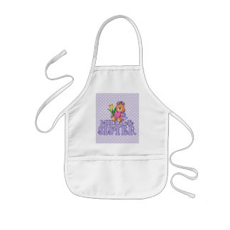 Bear with Heart Middle Sister Kids' Apron