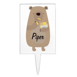 Bear with Honey jar Cake Topper