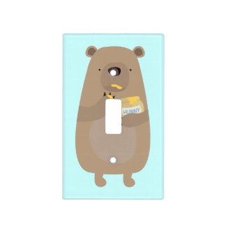 Bear with Honey jar Light Switch Cover