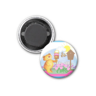 Bear with icecream magnet