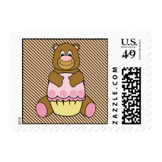 Bear With Pink Cupcake Color Swatches Stamps