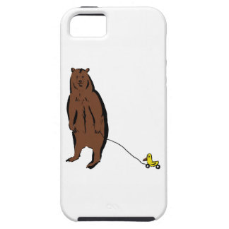 Bear with Rubber Duck iPhone 5 Cases