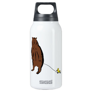 Bear with Rubber Duck Insulated Water Bottle