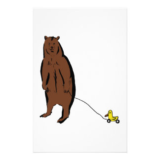 Bear with Rubber Duck Stationery Design
