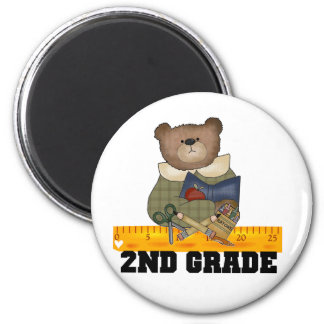 Bear with Ruler 2nd Grade Magnet
