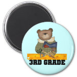Bear With Ruler 3rd Grade Tshirts and Gifts Magnets