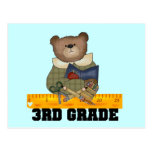 Bear With Ruler 3rd Grade Tshirts and Gifts Postcard