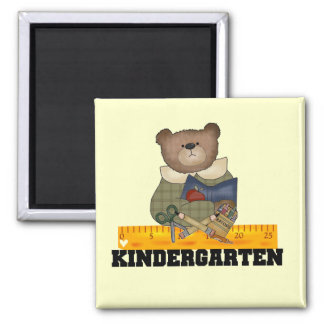 Bear with Ruler Kindergarten Tshirts and Gifts Refrigerator Magnet