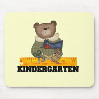 Bear with Ruler Kindergarten Tshirts and Gifts Mouse Pad