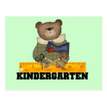 Bear with Ruler Kindergarten Tshirts and Gifts Post Card