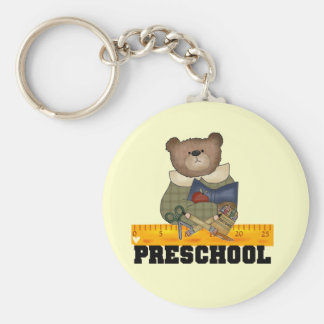 Bear with Ruler Preschool Tshirts and Gifts Keychain
