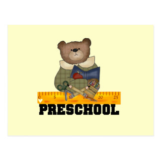 Bear with Ruler Preschool Tshirts and Gifts Postcard