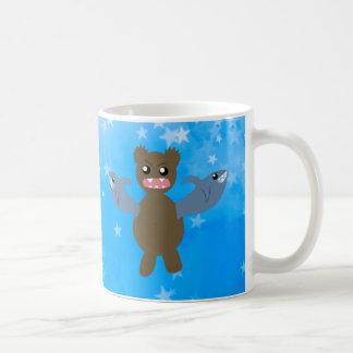 Bear With Sharks For Arms Coffee Mug