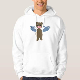 Bear With Sharks For Arms Hoodie