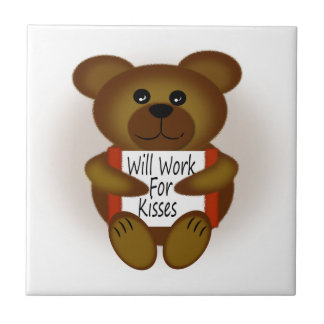 Bear with Sign Tile