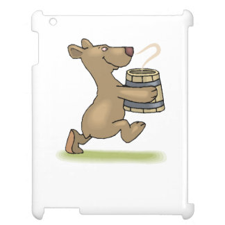 Bear With Soup iPad Cover
