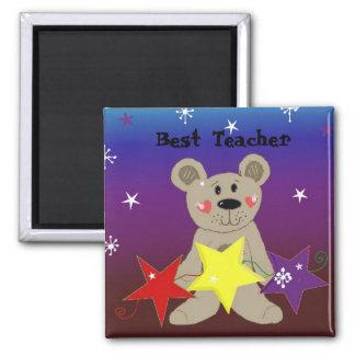 Bear with Stars - Best Teacher Magnet