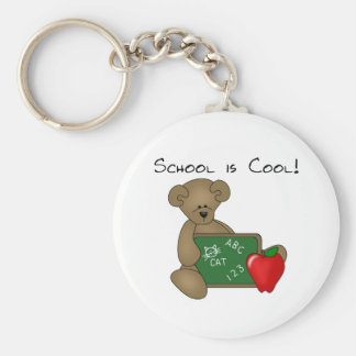 Bear with Writing Board School is Cool Key Chains
