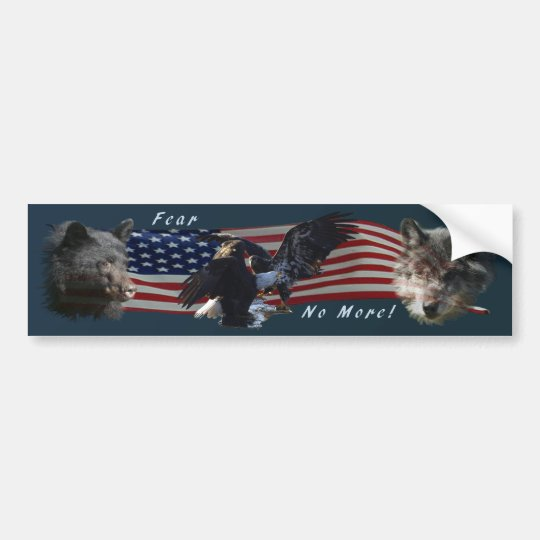 Bear, Wolf, Eagle Patriotic  Bumper Sticker