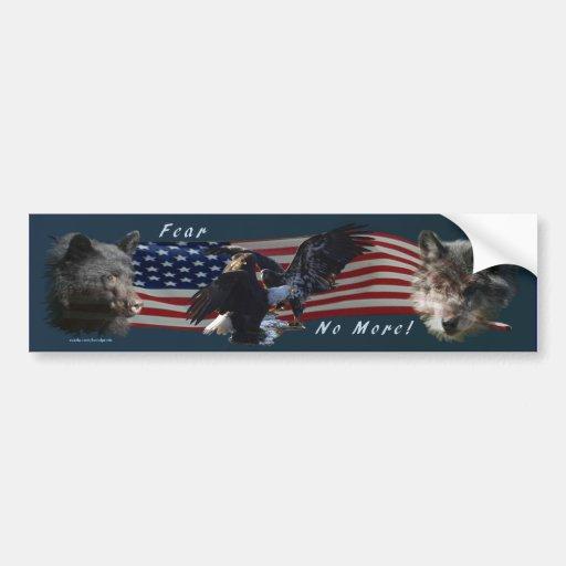 Bear, Wolf, Eagle, US Flag Patriot Bumper Sticker Car Bumper Sticker