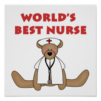 Bear World s Best Nurse T-shirts and Gifts Print
