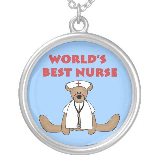 Bear World's Best Nurse T-shirts and Gifts Pendants
