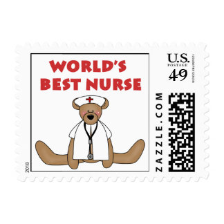 Bear World's Best Nurse T-shirts and Gifts Postage