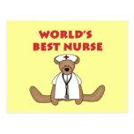 Bear World's Best Nurse T-shirts and Gifts Postcard