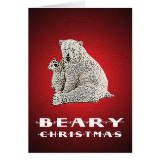 Bear-y Christmas Greeting Card