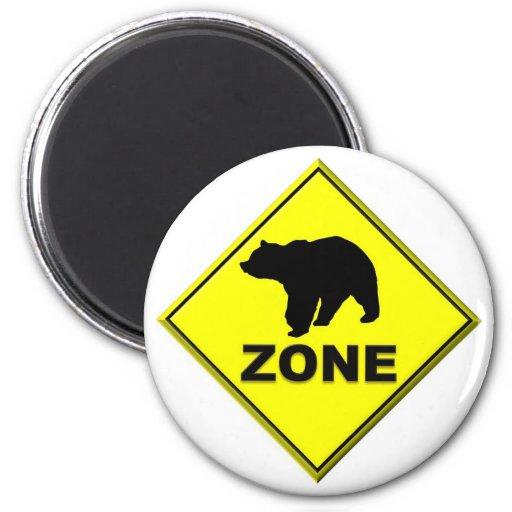 Bear Zone 2 Inch Round Magnet