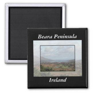 Beara Peninsula, Ireland. Scenic View. 2 Inch Square Magnet