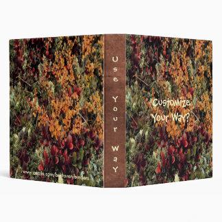 Bearberry Birch Foliage Custom Avery Binder