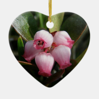 Bearberry Blossoms Ceramic Ornament