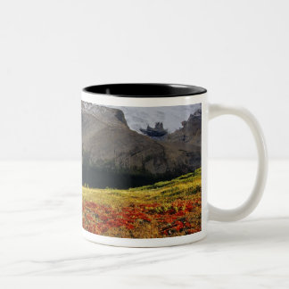 Bearberry in early autumn Athabasca Peak in the Two-Tone Coffee Mug