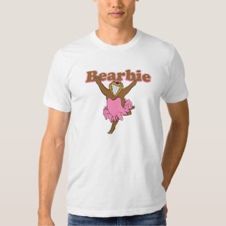 Bearbie LGBT Humor Funny Hairy Chest Gay Man T Shirt