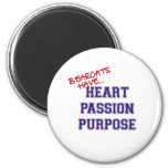 Bearcats Have Heart Passion Purpose Refrigerator Magnets