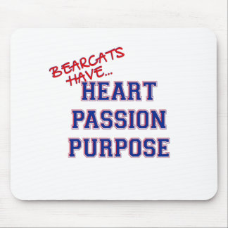 Bearcats Have Heart Passion Purpose Mouse Pad