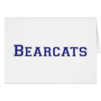 Bearcats square logo in blue greeting card